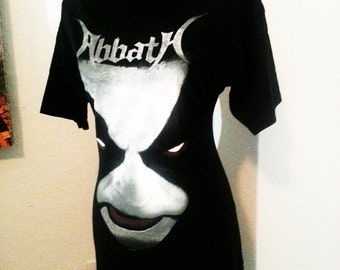 Abbath Immortal black metal diy female ladies band shirt boatneck tunic many sizes READY TO SHIP