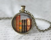 Library Book Necklace - Librarian Pendant - Gifts for Readers - Bibliophile Necklace - Reading Pendant - Literacy Jewelry (42)