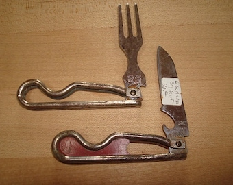 Antique Geo. Schrade Boy Scouts Knife And Fork With Opener (Sale Price)