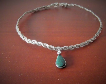 Chrysocolla stainless steal fairy elven choker