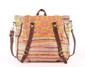 Ethnic Cross body diaper Bag, Backpack Tribal Embroidered Shoulder Bag