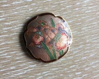 Vintage Cloisonne Floral Belt Buckle