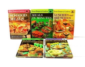 Vintage Better Homes And Gardens Creative Cooking Library Better Homes and Gardens Cook Books