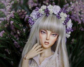 Blackberry Notes  flower handmade headband wreath corolla for bjd dollfie sd 8-10 inch size dolls heads