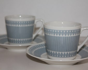 Retro abstract coffee cup set by Arabia Finland