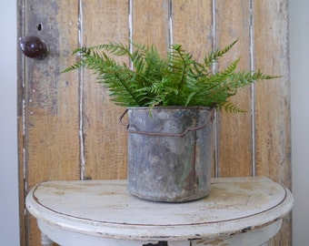 Vintage French Copper Bucket with Handle