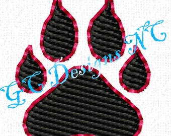 Small Cat Paw (Wildcat) Embroidery Design