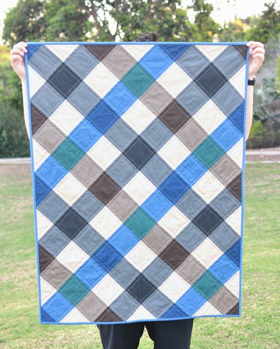 Plaid Baby Quilt: Items Similar To Modern Baby Quilt Buffalo Plaid Gingham