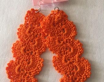 Crochet Cascading Earrings