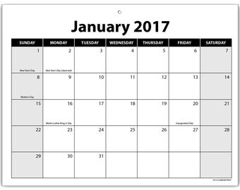 2 Year Calendar Notepad 2017 to 2018 Desk Pad Organizer Blank 8.5 x 11 inches, 25 Months
