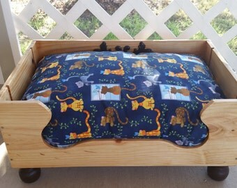 Cat Bed. Dog Bed. Pet Bed. Recycled Wooden Wine Box