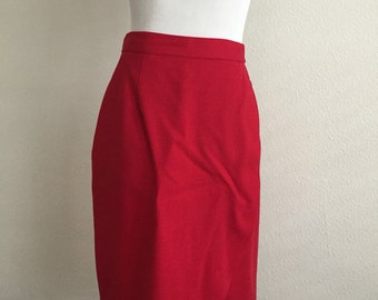 Red Flap Skirt