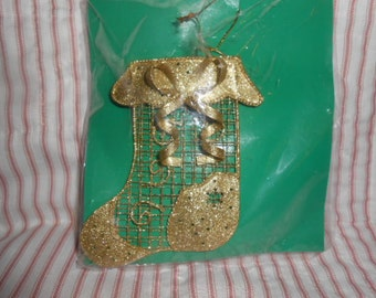 Metal Stocking Ornament