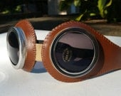 Brown steampunk goggles