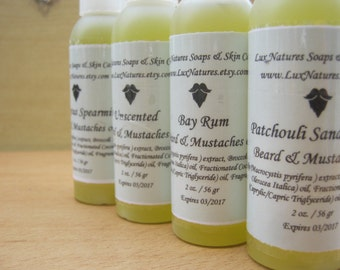 Beard and mustaches oil, Broccoli beard oil, Kelp extract beard oil, Men unscented beard and mustaches oil, Bay Rum beard oil