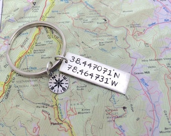 Appalachian Trail Hand Stamped Keychain | Gift for hiker | AT Thru Hiker | Mountain Name | Trail name