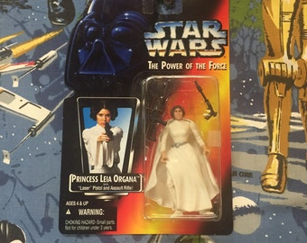 Vintage STAR WARS: Power of the Force • Princess Leia Organa • Sealed 1995