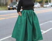 Envy -Green Midi Skirt Ready to Ship - On Sale!