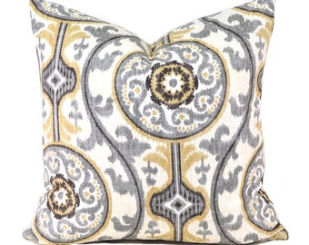 Pillow Covers ANY SIZE Decorative Pillow Cover Black Grey Pillow Magnolia Oh Suzanni Metal