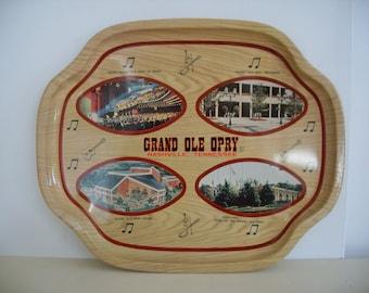 Vintage 'GRAND OLE OPRY' Souvenir Tray
