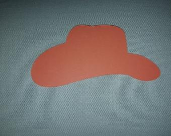Cowboy Hat Paper Cut-outs