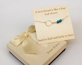 Sterling silver Infinity anklet. Best friends anklet, sister anklet. Turquoise anklet.