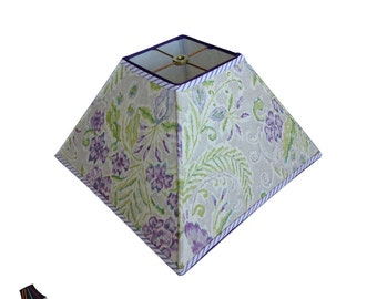 Purple Lamp Shade: Designer Lamp Shades, Unique Lamp Shades, Purple Lamp Shades, Floral Lamp Shades, Green, Purple, Modern Lamp Shades