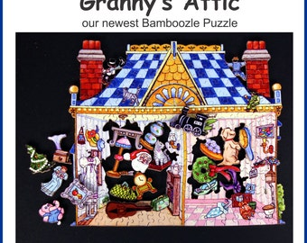 Granny's Attic - a 150 piece Bamboozle Wooden Jigsaw Puzzle from BCB Puzzles