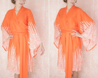 "Dream Catcher. One custom ""Noguchi"" kimono robe in an exquisitely soft rayon fabric. Super soft rayon robe with pockets"