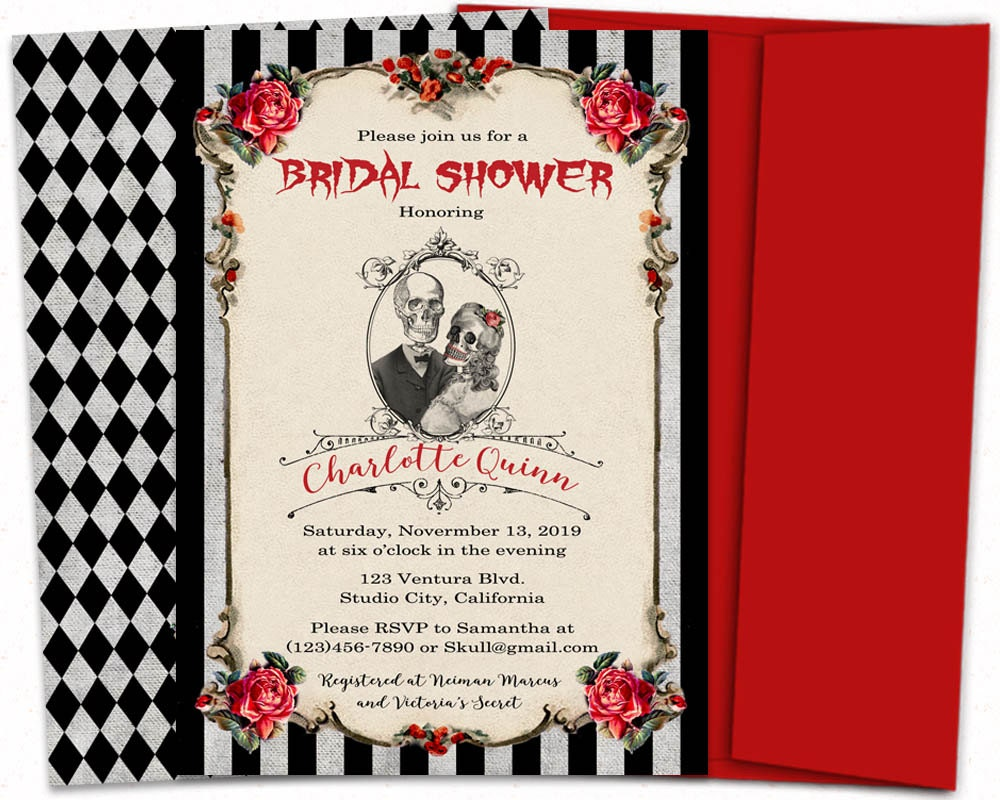 Nightmare Before Christmas Wedding Invitations