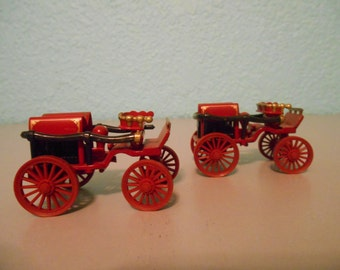 Vintage toy fire pumper carriages, Horse drawn fire  truck, Firemen, Horse drawn vehicle, Collectible toy, Pumper truck, Vintage vehicle