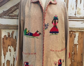 Vintage Mexican Embroidered Jacket