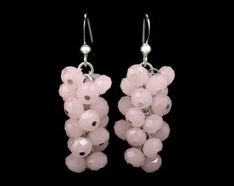 Rosé Grape Earrings   silverplated