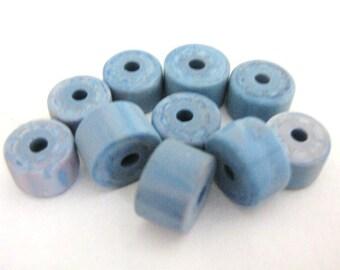 5x7mm Rondelle Blue Vintage Lucite Beads Heshi Rondelle 20pcs
