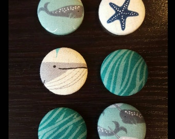 Nautical Button Magnet Set of 6