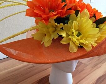 Orange and Yellow Derby/Oaks Hat