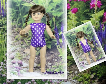 Purple Burst of Silver Leotard/Swim Suit for American Girl Doll