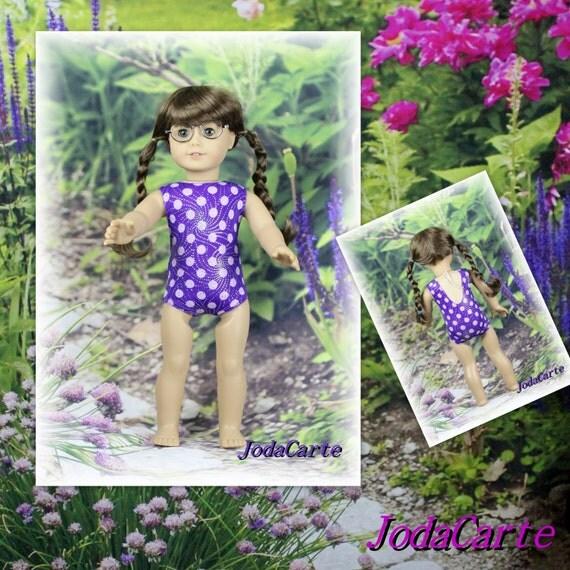Purple Burst of Silver Leotard/Swim Suit for American Girl Doll