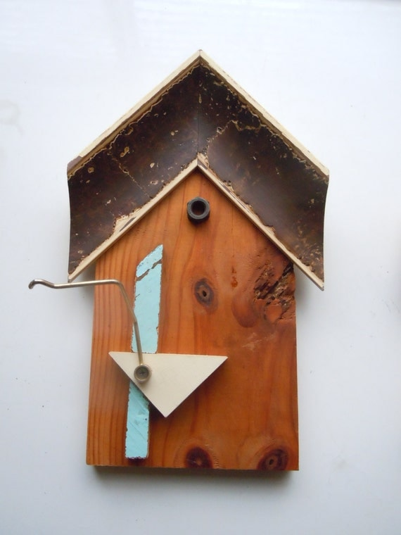 Wooden Birdhouse Wall Decor : Items similar to birdhouse assemblage wall art collage