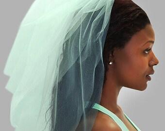 Mint Tulle Veil - Bachelorette Party Veil, Mint Bachelorette Veil, Bachelorette Party, Bridal Shower Veil, Hen Party Veil