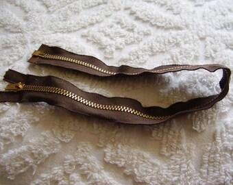 """SALE/Metal Talon Separating 18"""" Brown Zipper"""