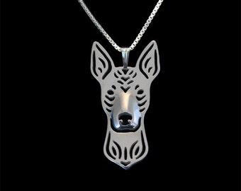Xoloitzcuintle jewelry - sterling silver pendant and necklace