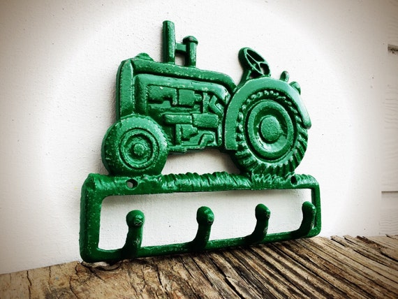John Deere Wall Decor : Bold john deere green tractor wall hook rustic shabby chic