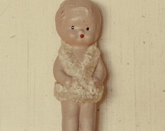 Small, composition, Kewpie doll ,Carnival Doll, 1930's ,Free shipping ,Vintage