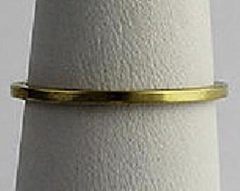10 Brass Ring, Thin Brass Ring, 1mm, Ring Shank