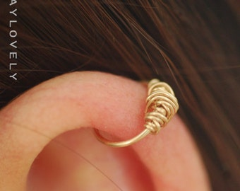 Small gold nose hoop, helix hoop, cartilage, 14k Gold Filled Nose Ring ,gold nose ring, silver nose ring, silver nose hoop, small gold hoop
