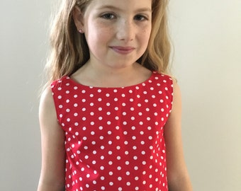 Red Sun Top - Size 5 Years