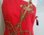 Vintage Anchor Dress Bob Mackie Size 10 Cocktail Party Dress
