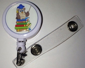 Professor Owl Themed ID Badge Reel
