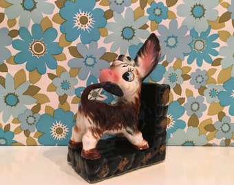Vintage Kitsch Donkey Bookend